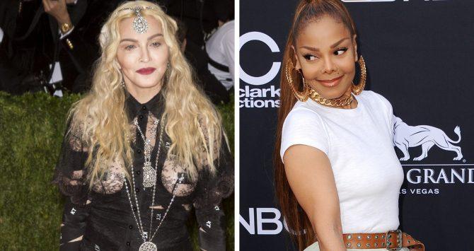 Madonna and Janet Jackson