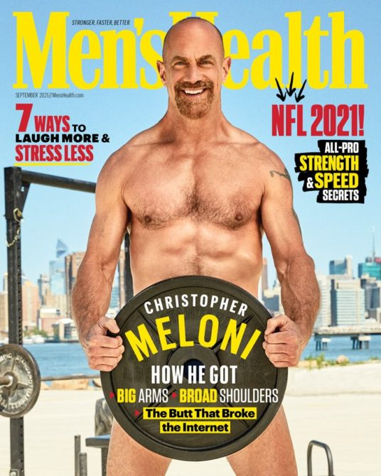 Christopher Meloni on Men's Health, September 2021, photographed by Ben Watts.