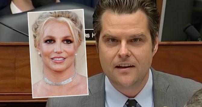 Britney Spears and Matt Gaetz
