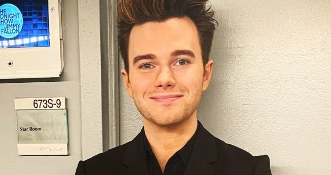 Chris Colfer backstage on the Jimmy Fallon show