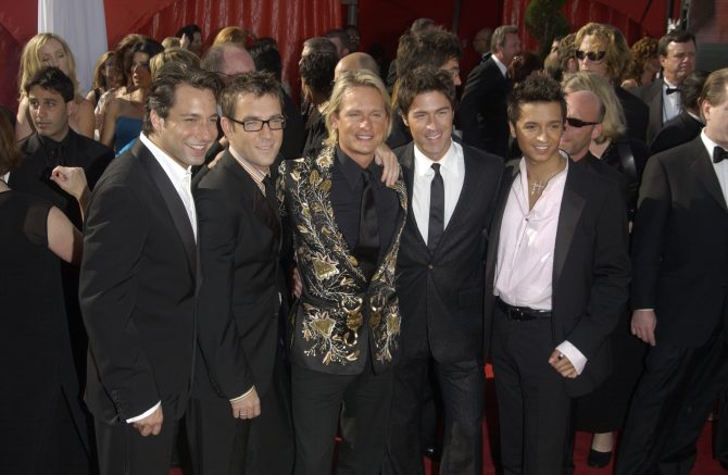 Stars of Queer Eye for the Straight Guy at the 55t Annual Emmy Awards in Los Angeles