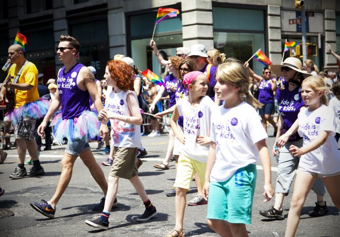 LGBT Pride Parade in New York City, NY on June 29th, 2014