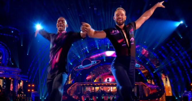 Gay dancers Johannes Radebe and John Whaite